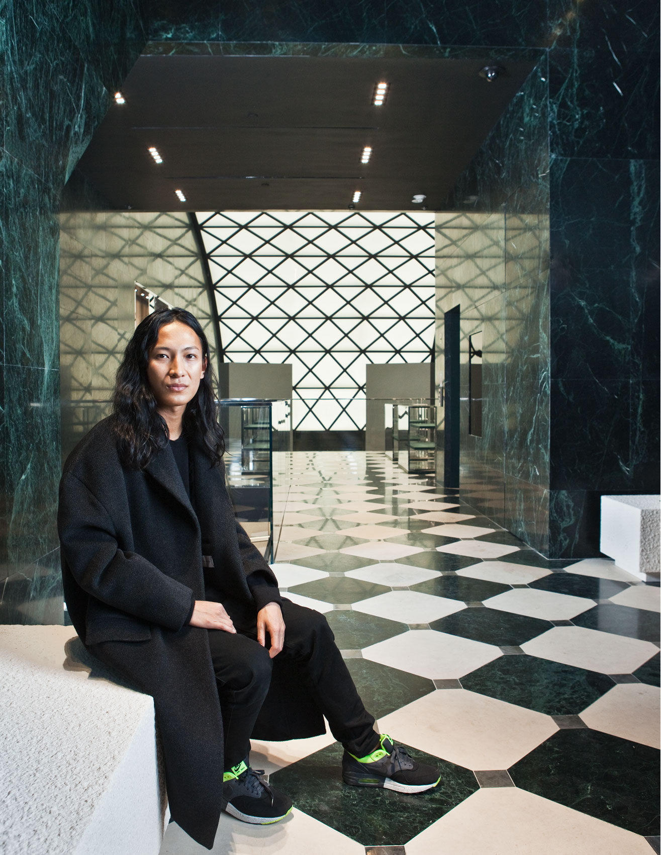Heroic portrait of Alexander Wang at Balenciaga in NYC by Celebrity Photographer Michael Weschler, New York City