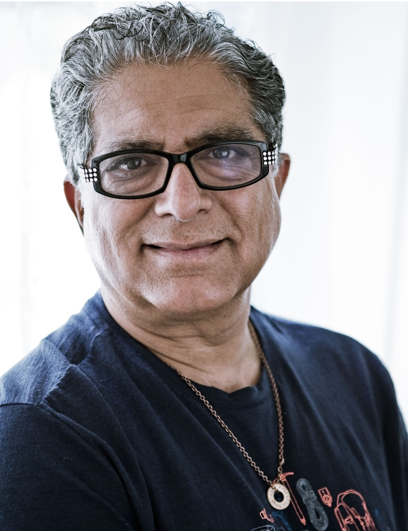Portrait of Deepak Chopra by New York Portrait Photographer Michael Weschler
