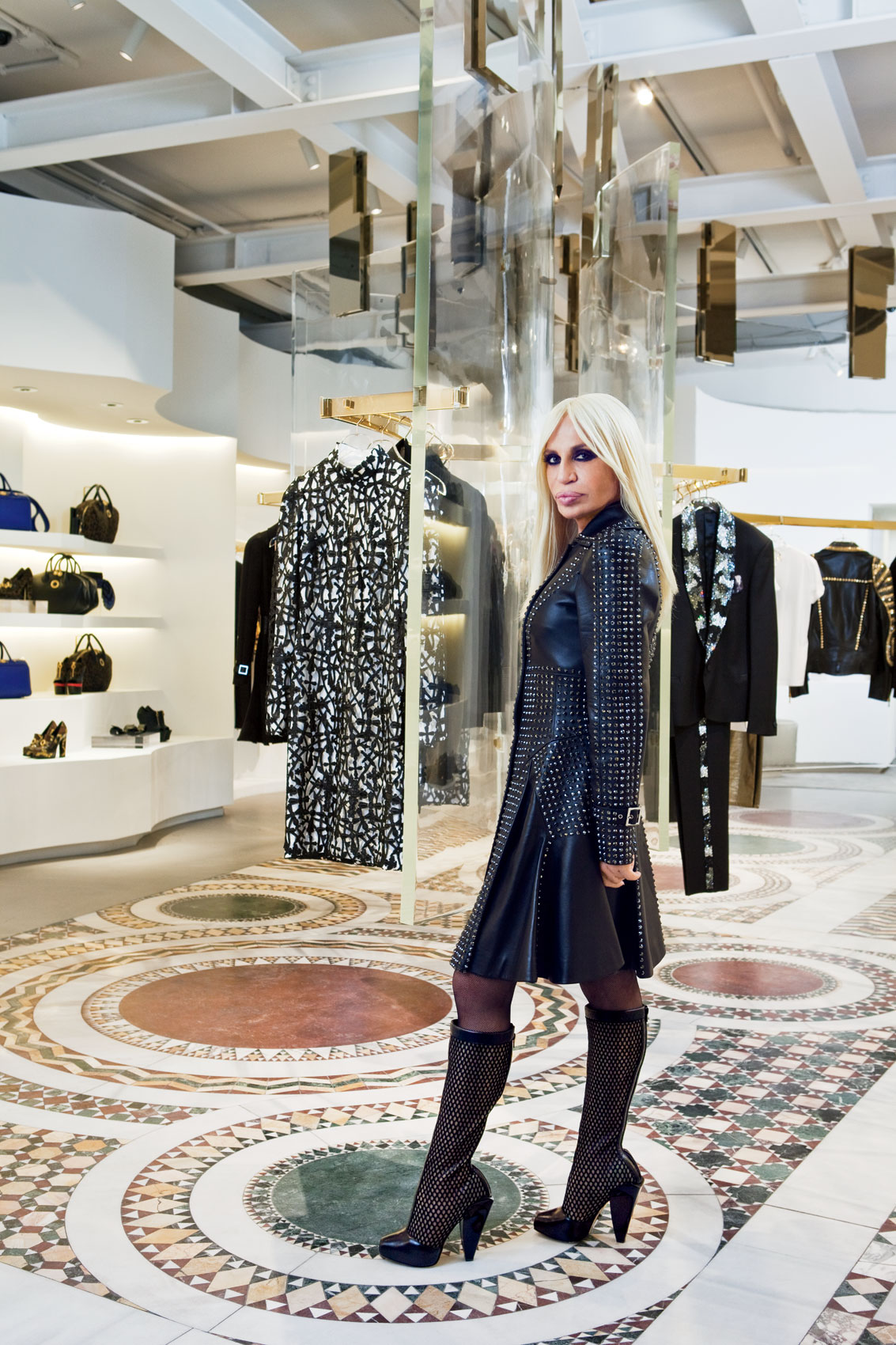 Iconic Portrait of Donatella Versace in New York City by top celebrity photographer Michael Weschler