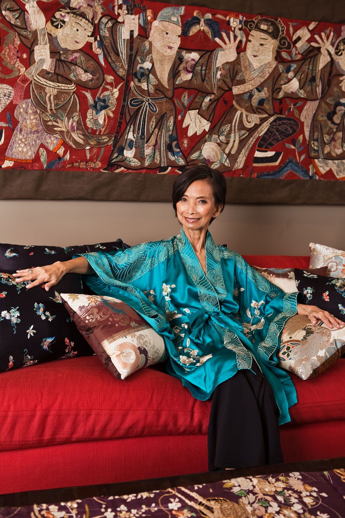 Portrait of Famous Designer Josie Natori in New York City by Celebrity Photographer Michael Weschler